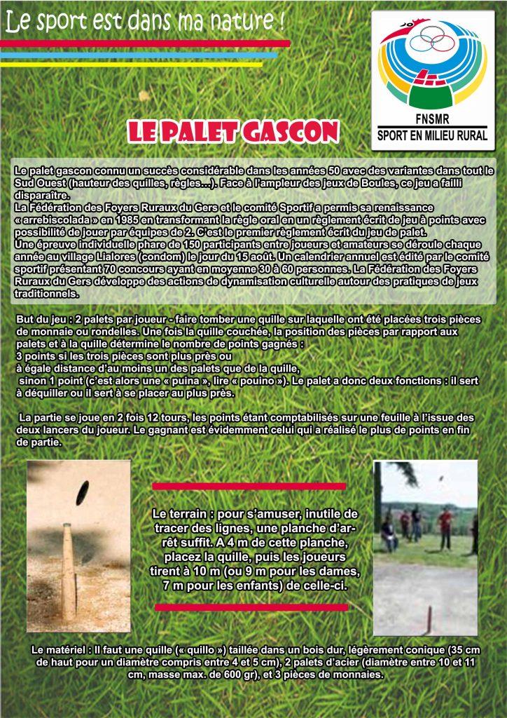 Le Palet Gascon fiche 5